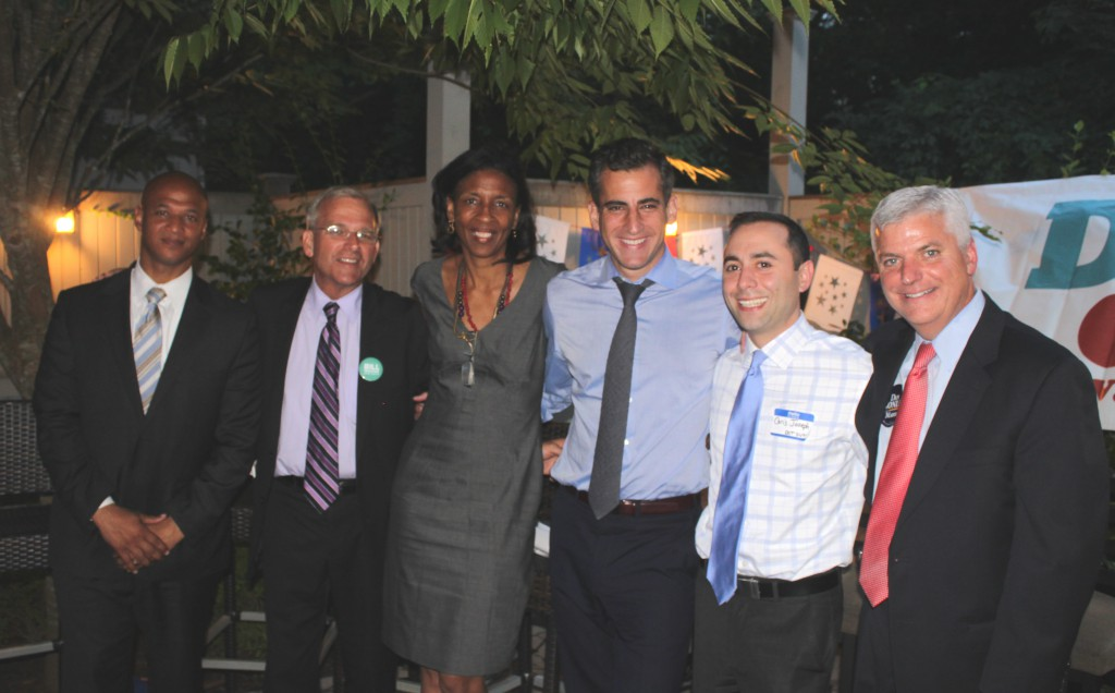 Mayoral candidates and steering members at the Ledge Restaurant, August 8, 2013.
