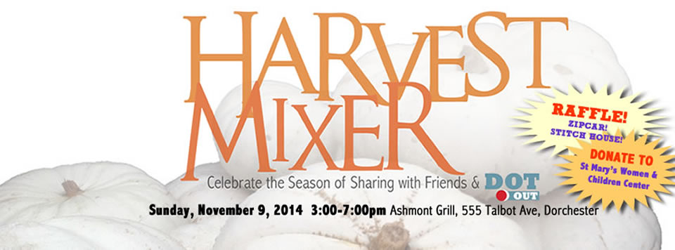 <b>HARVEST MIXER</b> So much to be thankful for this year -- come and celebrate with us!