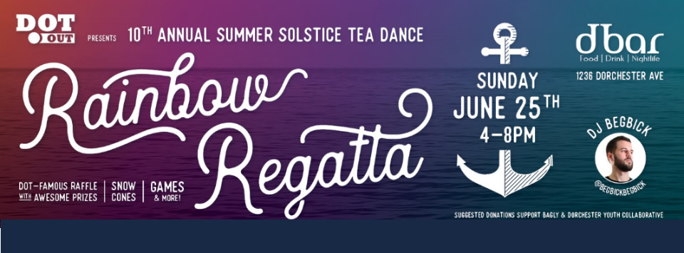 <b>10th ANNUAL TEA DANCE</b> It's the Rainbow Regatta for Summer Solstice 10 at dbar
